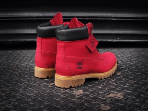 shoes-red+timberlands-boys+size+6