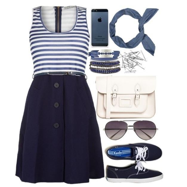 Морской стиль - одежда для девушек