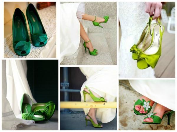 Обувь зеленого цвета