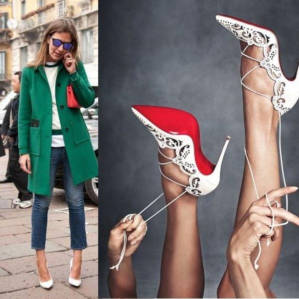 Как сочетать белые туфли