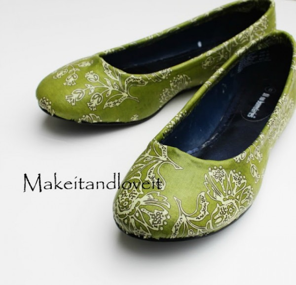 Ashley on Make It and Love It - Fabric covered flats