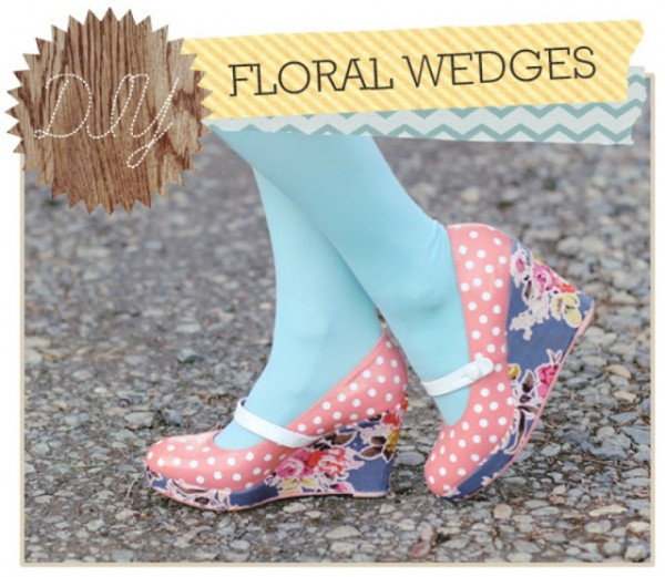 Delightfully Tacky - Polka Dot Floral Wedges