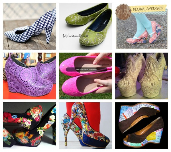 Shoe Makeovers - Cover Them Collage